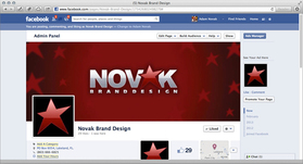 NOVAK Brand Design Facebook Business