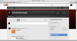 NOVAK Brand Design YouTube